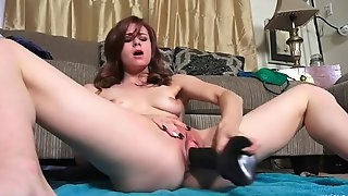 She loves stuffing her cock starving fuck hole with toys