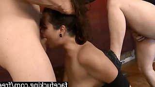 Extreme throat fucking and breakdown for catlynn
