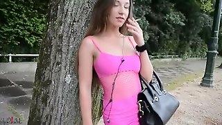 Hookeer pink dress & pantyhose