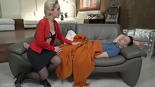 Young man has no choice but to fuck his sex-starved stepmom Di Devi