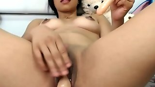 First time dp two dildos in my tiny pussy - PureSexMatch,com