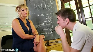 Mature teacher fucks student