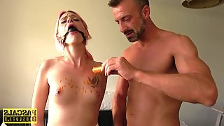 Pink haired slut Roxy Lace sucks an ice-cream and gets fucked