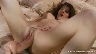 Big Bauble For Brunette Slut Wifey Playing Solo In the long run b for a long time Horny