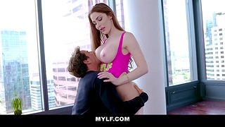 Fucking awesome milf with bug tits Jessa Rose is licked and fucked by her new habitual user