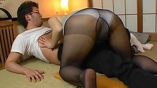 Japan MILF llano pantyhose, nude fetish XXX quarters kink