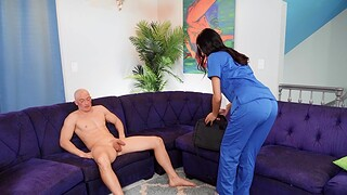 Cum in mouth be required of gorgeous nurse Azul Hermosa after amazing sex