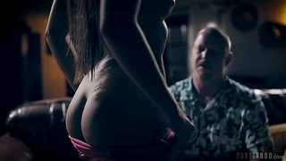 Touching young and superb body of inviting full-grown stepdaughter Gia Derza