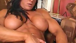 Sporty Hermaphrodite With a Giant Clit Masturbates Until Squirting